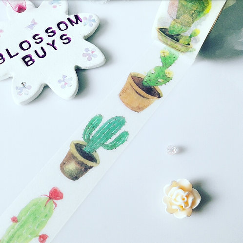Cactus Pots Washi Tape - Wide