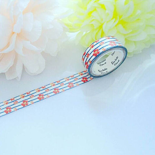 French Floral Stripes Washi Tape