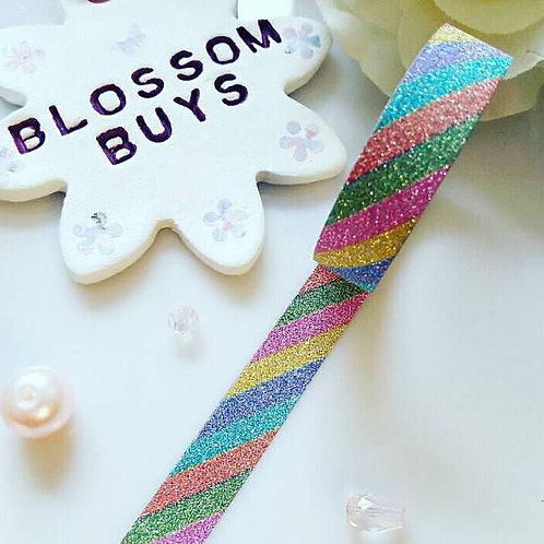 Rainbow Glitter Washi Tape