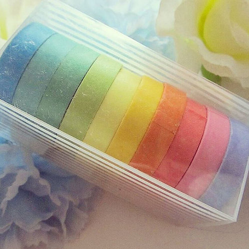 Skinny Rainbow Washi Tape Set