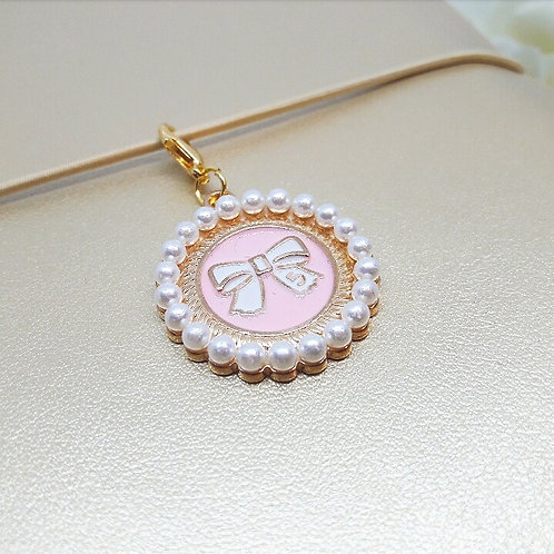 Bow Pearls Planner Charm