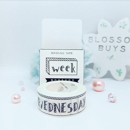 Week Days Washi Tape