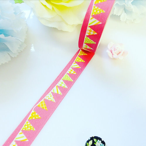 Watermelon Red Bunting Washi Tape