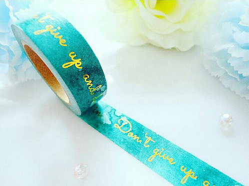 Inspiration Gold Green Washi Tape