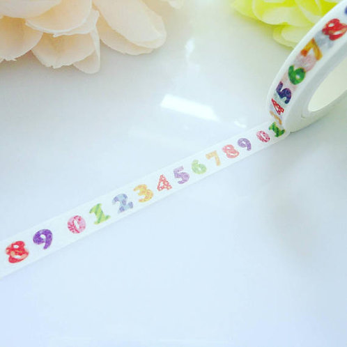 Numbers Dates Washi Tape