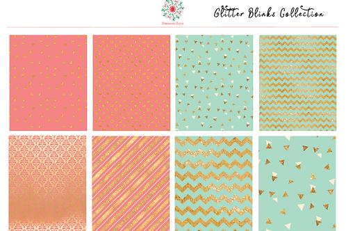Glitter Blinks Kit - EC Weekly Kit - Planner Stickers