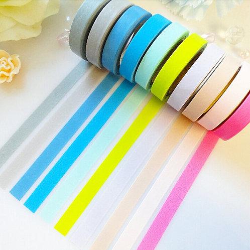 Skinny Washi Tape Set Pink Green Blue