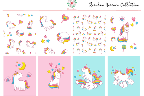 Rainbow Unicorn Kit - EC Weekly Kit - Cute Planner Stickers