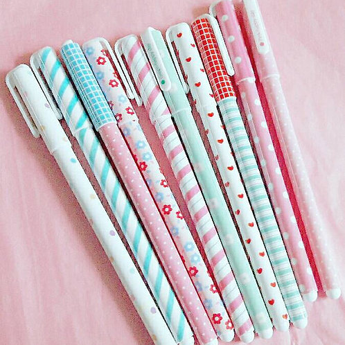Cute Colourful Fine Line Gel Pens- Set of 10