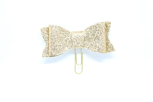 Glitter Bow Planner Clips