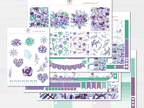 Frost and Flowers Sticker Kit - EC Weekly Kit