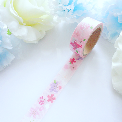 Pink Purple Flowers Washi Tape