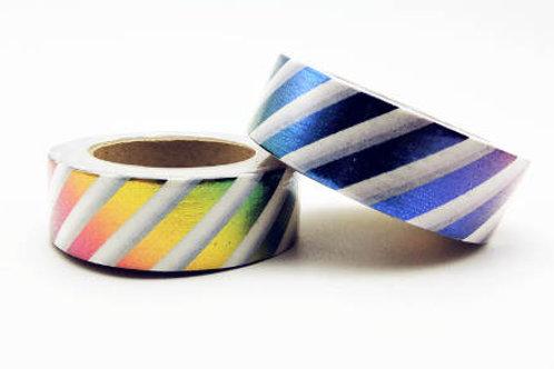 Rainbow Stripes Foil Washi Tape