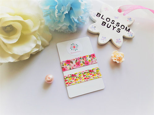Floral Pinks Washi Sample