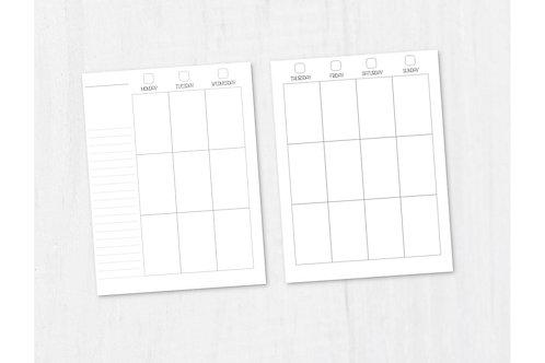 PRINTED HP Vertical Weekly Disc Planner Inserts - Happy Planner