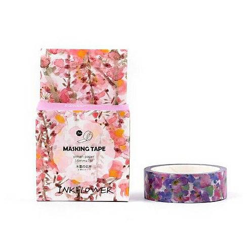 Inkflower Watercolour Purple Washi Tape