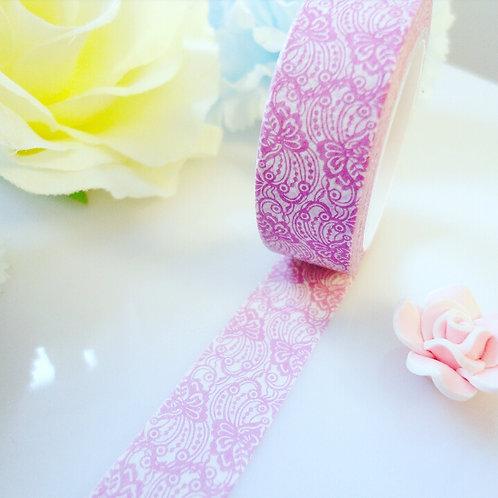 Purple White Flower Washi Tape