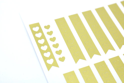 Gold Metallic Checkboxes