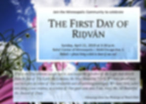 2019-04-21 1st Day of Ridvan Invitation.