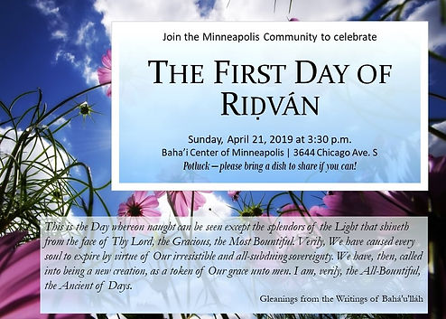 2019-04-21 1st Day of Ridvan Invitation.