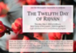 2019-05-02 12th Day of Ridvan Invitation