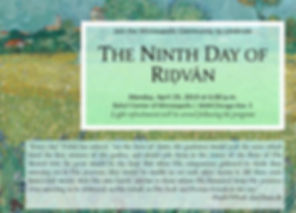 2019-04-29 9th Day of Ridvan Invitation.