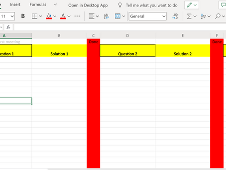 Excel: My new favourite meeting tool