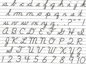 La importancia de la letra cursiva en los niños.