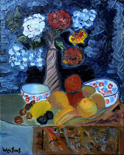 Flowers Bowls and Fruit