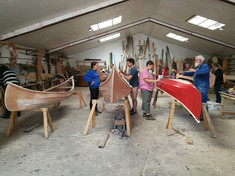 canoe building almost done