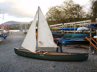 A classic Bermuda rig with Jib sail at the front