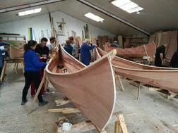 stern of canoe