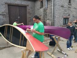 painting canoe