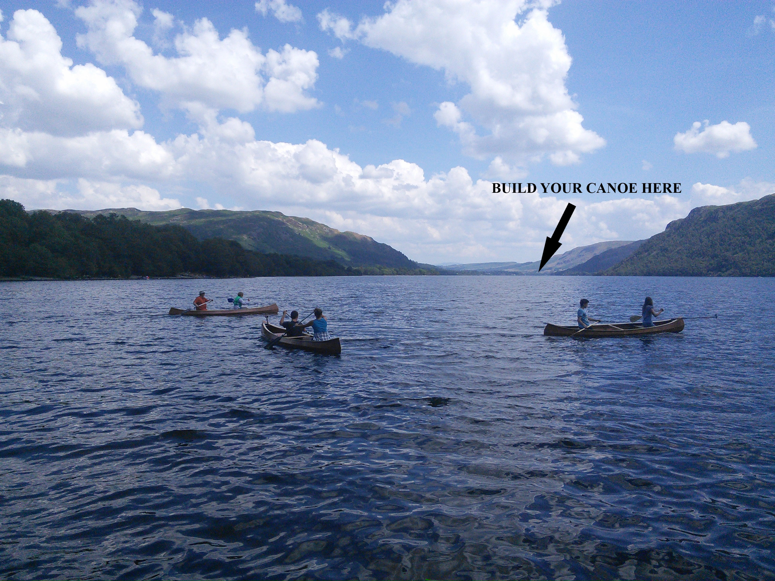 Canoes on Ullswater