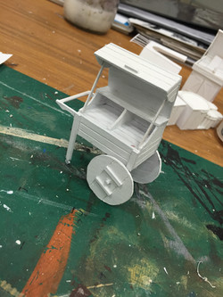 "1/2"" Scale Model Process Photo Book Cart"