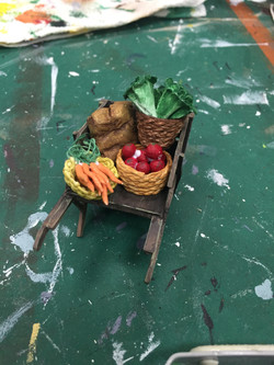 """1/2"""" Scale Model Process Photo Vegetable Cart"""