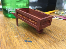 """1/2"""" Scale Model Process Photo Dairy Cart"""