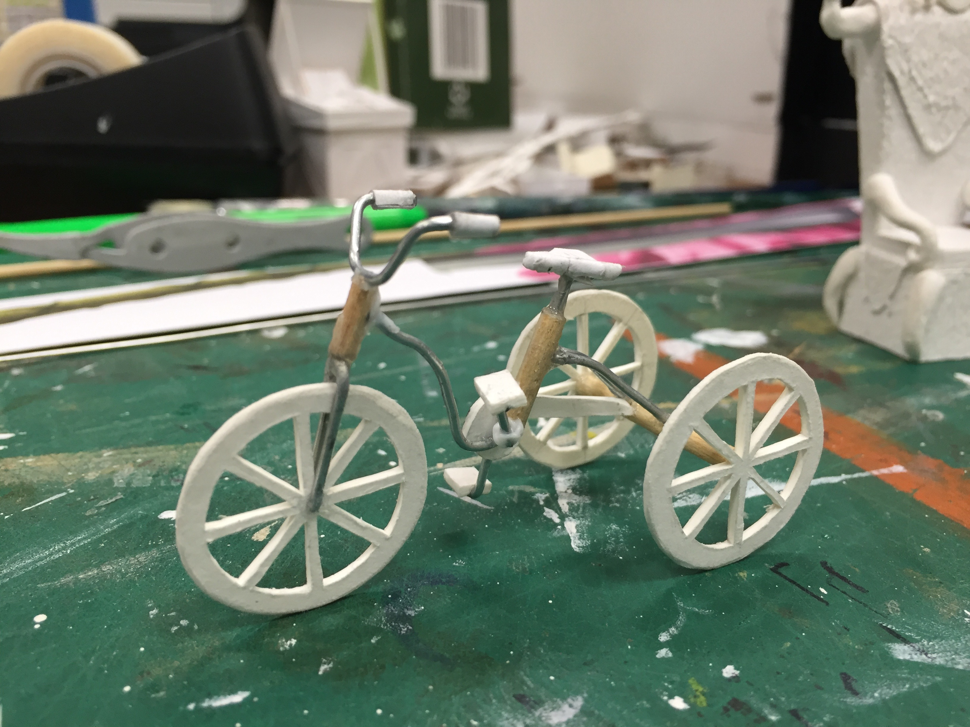 "1/2"" Scale Model Process Photo Maurice's Invention Bicycle"