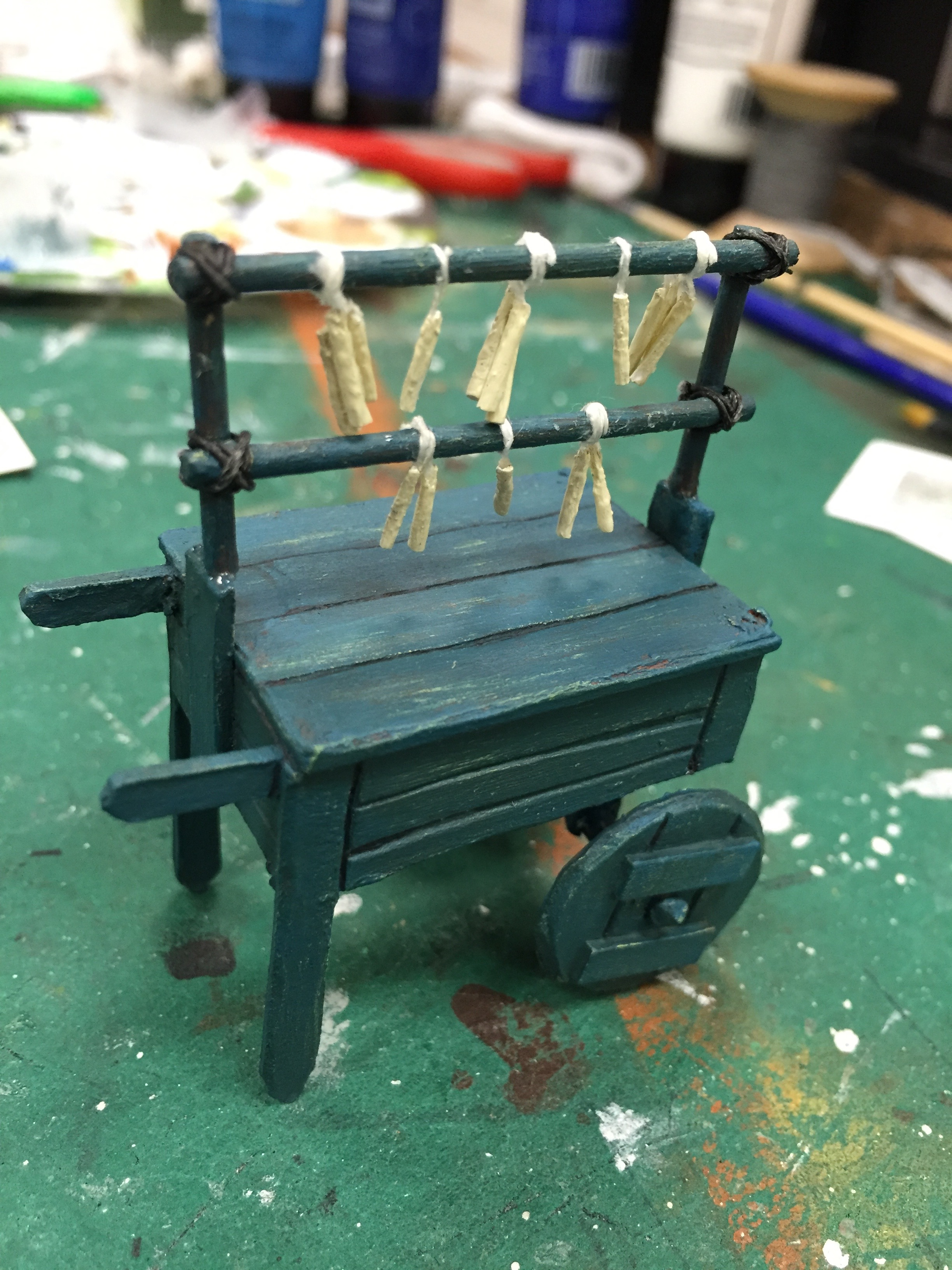 "1/2"" Scale Model Process Photo Candle Cart"
