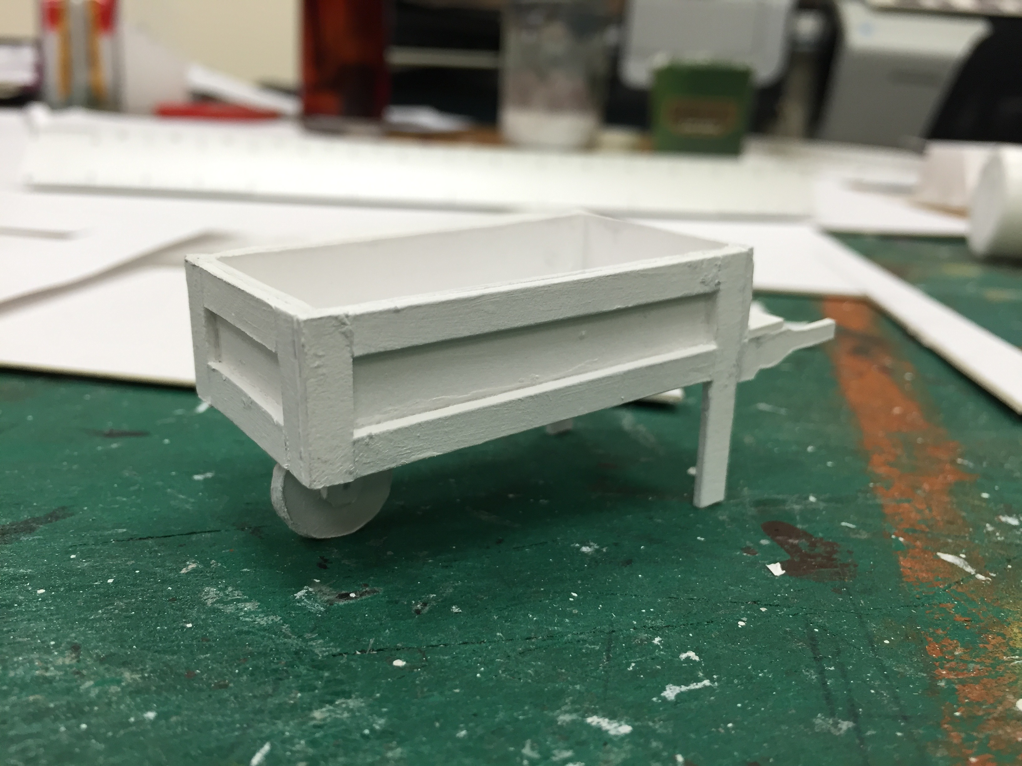 "1/2"" Scale Model Process Photo Dairy Cart"
