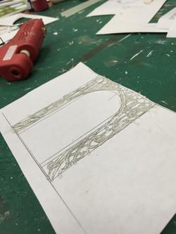 """1/2"""" Scale Model Process Photo Vine Details"""