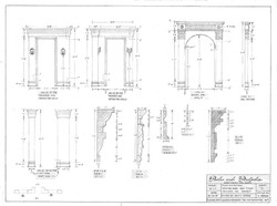 """1/2"""" Scale Hand Draftings for Doorways and Molding Detail"""