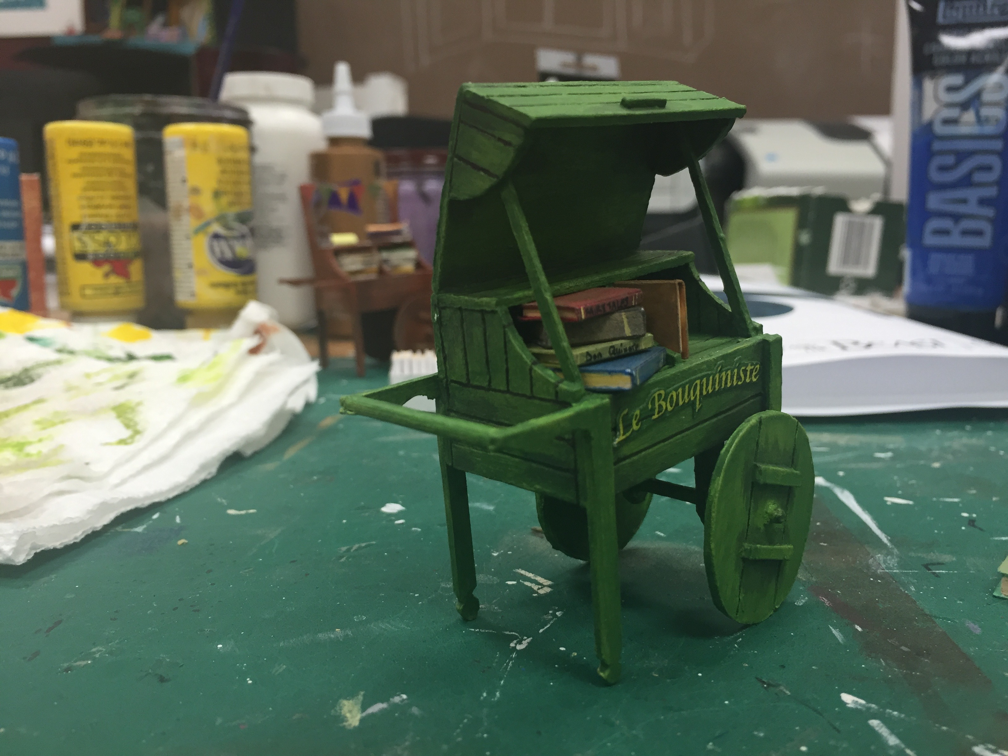 "1/2"" Scale Model Process Photo Book Cart"
