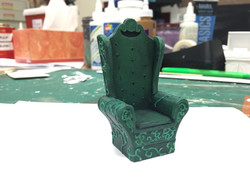 """1/2"""" Scale Model Process Photo Beast's Chair"""
