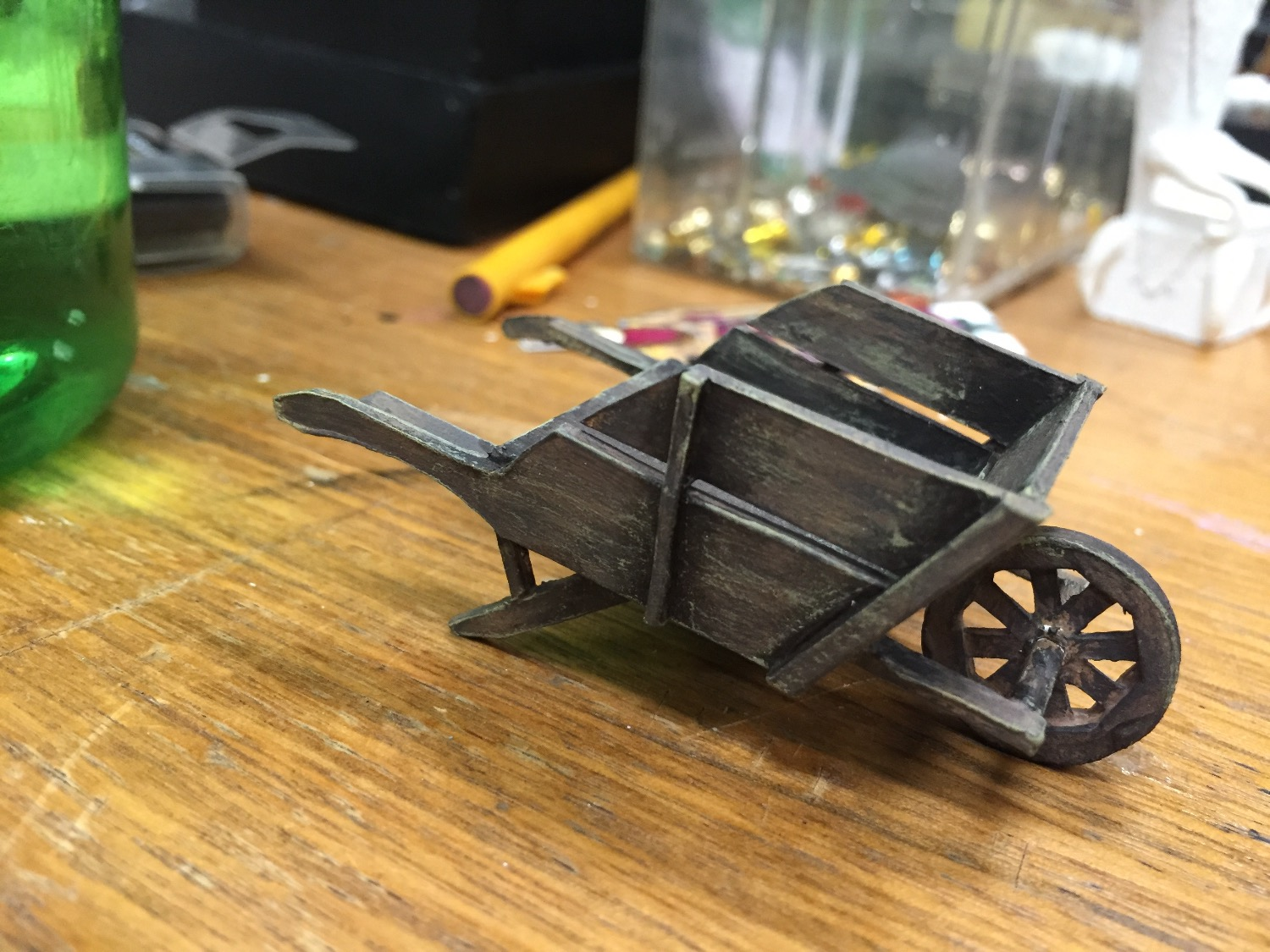 "1/2"" Scale Model Process Photo Vegetable Cart"