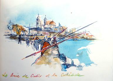 Pecheurs à Cadix