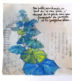 Parapluies bleus