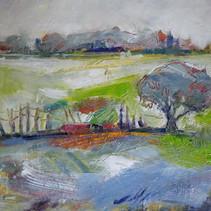 Paysage à l'arbre gris