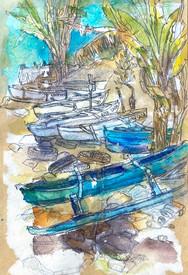 Barques à Sada