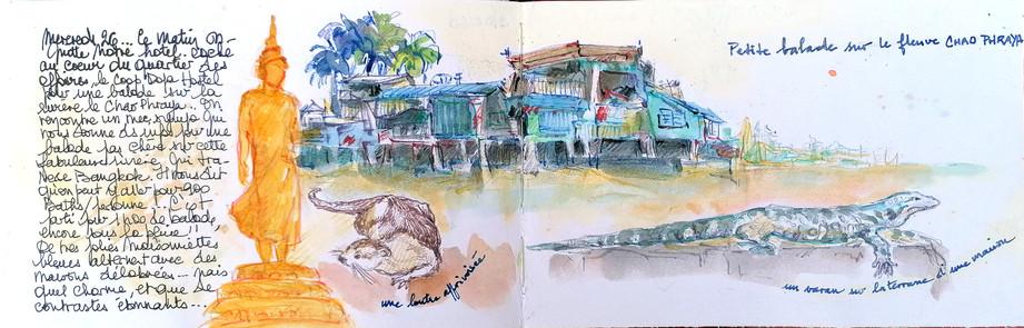 Bords du fleuve Chao Phraya
